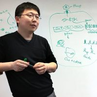 Feng Zhang of the Broad Institute and MIT's McGovern Institute for Brain Research (Carey Goldberg/WBUR)