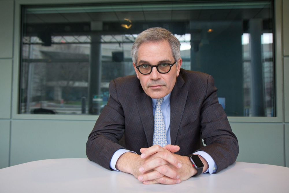 Philadelphia District Attorney Larry Krasner at WHYY studios. (Kimberly Paynter/WHYY)