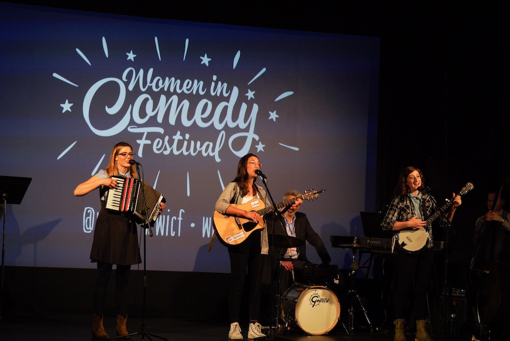 The Femmedy Trio performs at last year's Women in Comedy Festival. They'll be performing Thursday night at this year's festival. (Courtesy Luke Flanagan)
