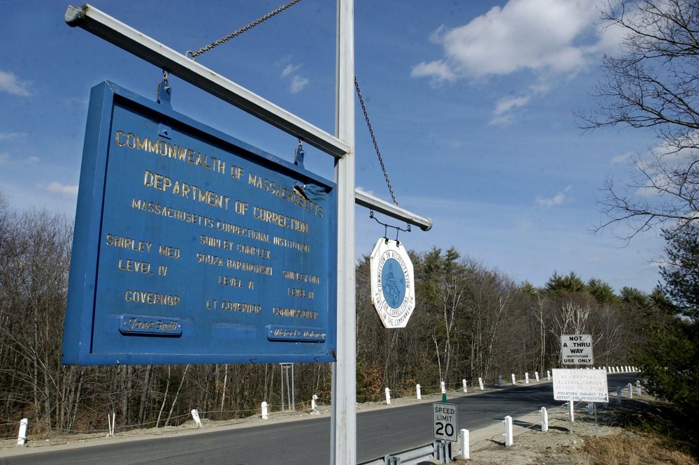The entrance of the Massachusetts Correctional Institution in Shirley, Mass. (Gretchen Ertl/AP)
