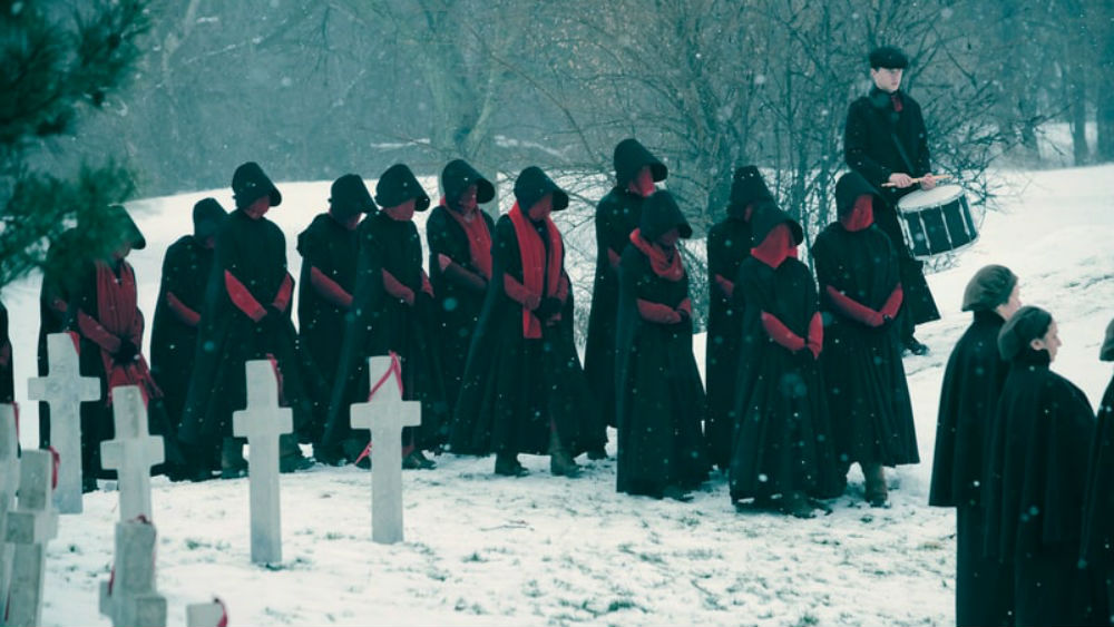 "A scene from the second season of ""The Handmaid's Tale."" (Courtesy Take Five/Hulu)"