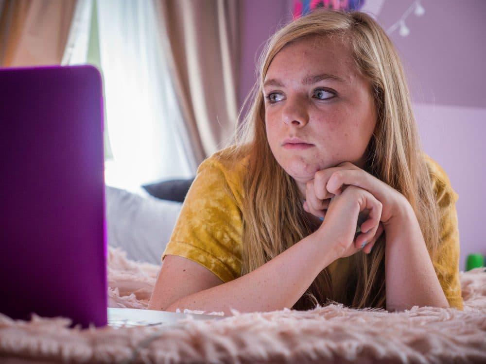 """Elsie Fisher in """"Eighth Grade."""" (Courtesy Linda Kallerus/A24)"""
