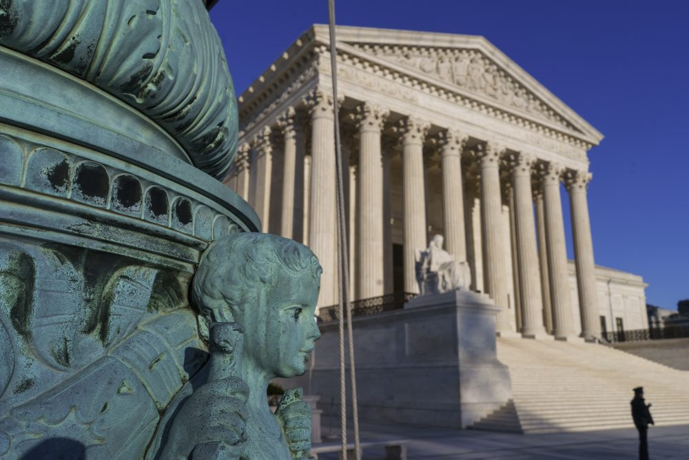 The Supreme Court is seen in Washington on April 20. (J. Scott Applewhite/AP)