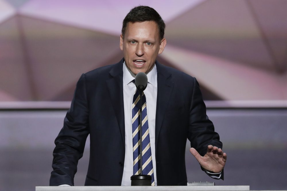 Entrepreneur Peter Thiel speaks during the final day of the Republican National Convention in Cleveland, Thursday, July 21, 2016. (J. Scott Applewhite/AP)