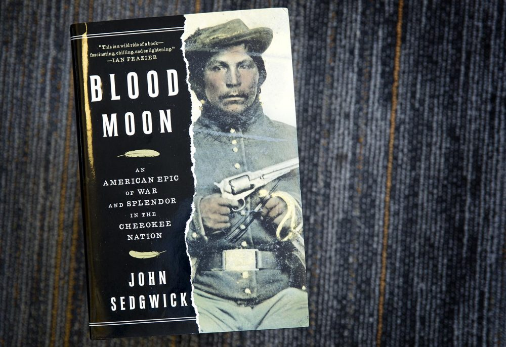 """Blood Moon,"" by John Sedgwick. (Robin Lubbock/WBUR)"