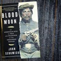 """""""Blood Moon,"""" by John Sedgwick. (Robin Lubbock/WBUR)"""