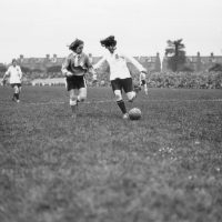 A hundred years ago, there was a massively popular women's soccer team: Dick, Kerr Ladies FC. (MacGregor/Topical Press/Hulton Archive/Getty Images)