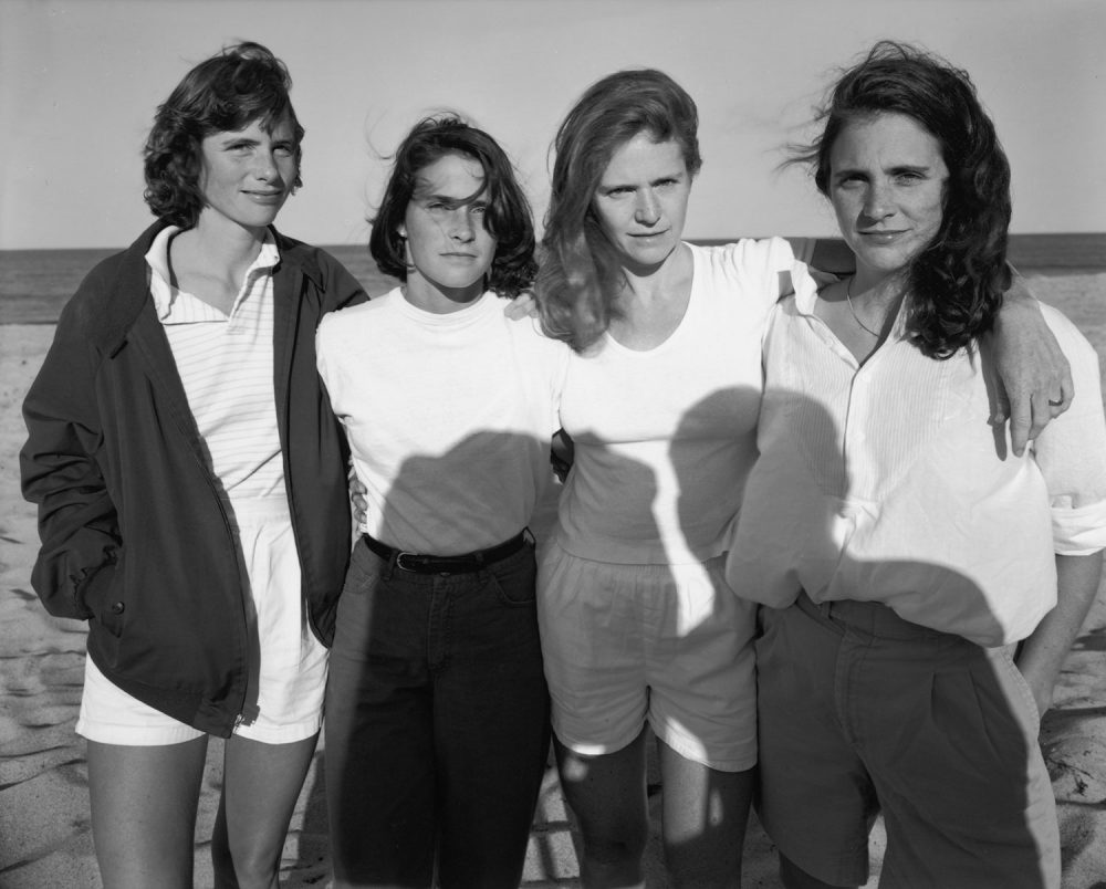 "Nicholas Nixon, ""The Brown Sisters, Truro, Massachusetts,"" 1984. (Courtesy the artist and Fraenkel Gallery, San Francisco)"