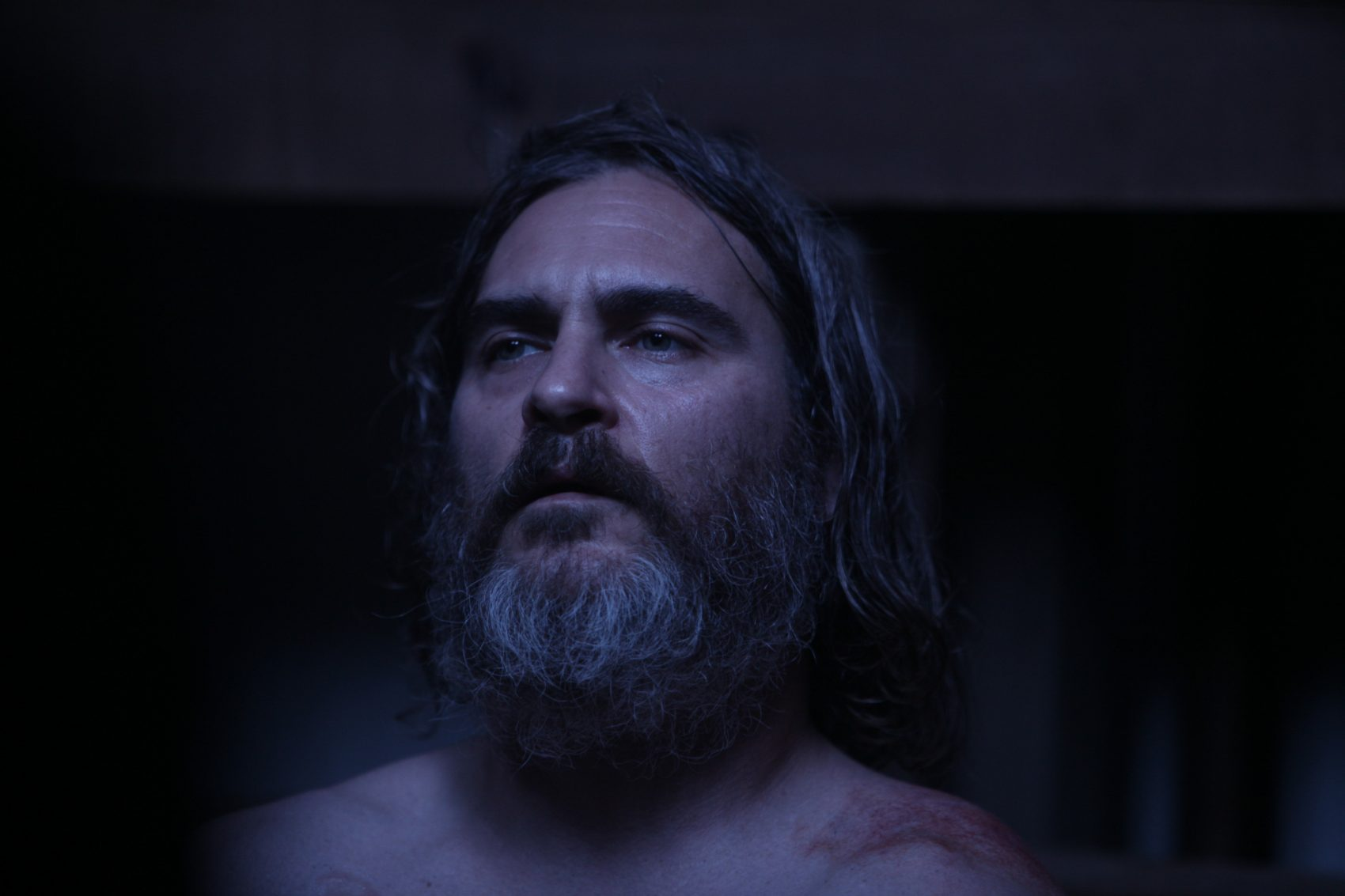 "Joaquin Phoenix in the thriller ""You Were Never Really Here."" (Courtesy StudioCanal)"