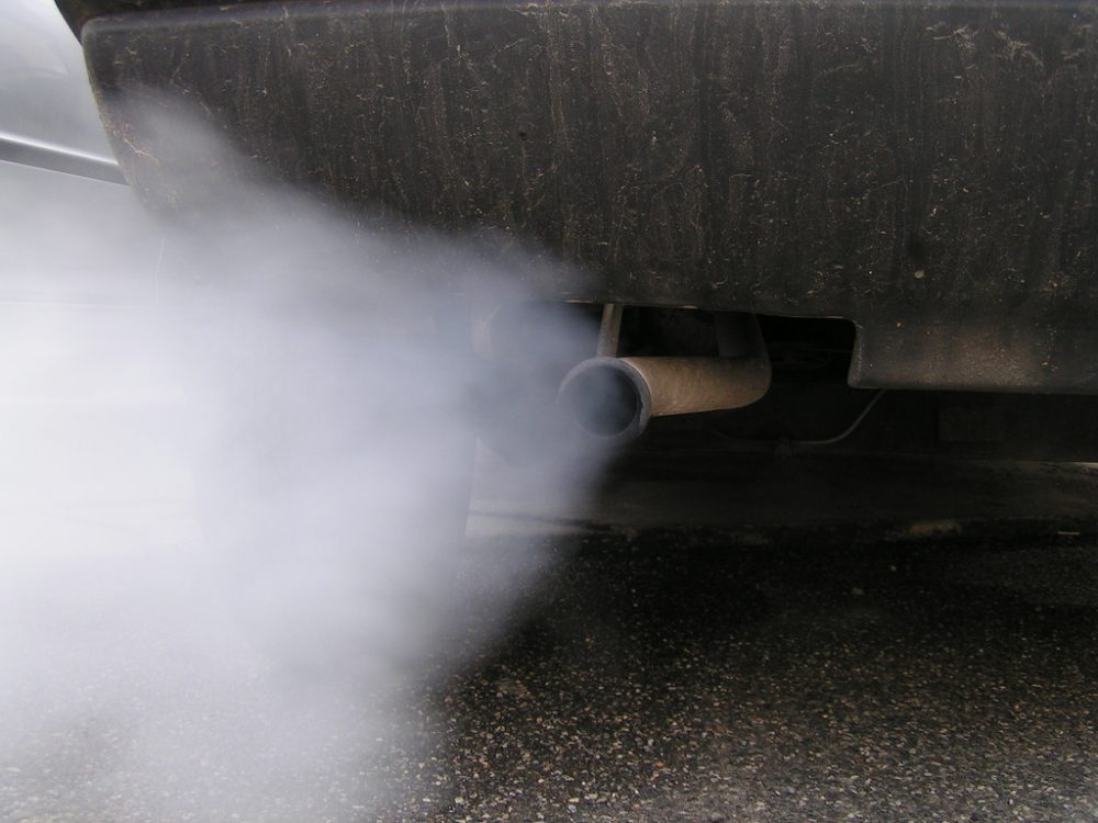 Smog from a vehicle engine.  (Simone Ramella/Flickr)