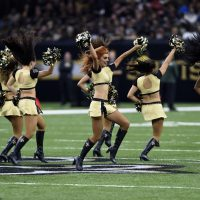 New Orleans Saints cheerleaders perform in the second half of an NFL football game in New Orleans, Sunday, Dec. 3, 2017. (Bill Feig/AP)