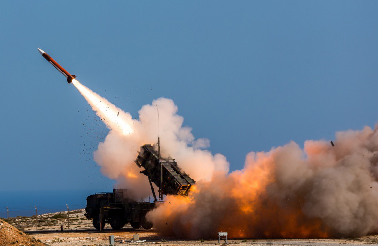 Online videos are raising questions about Saudi Arabia's claims that it has intercepted nearly every ballistic missile launched by rebels in Yemen with its own Patriot missile systems. (Sebastian Apel/U.S. Department of Defense, via AP)