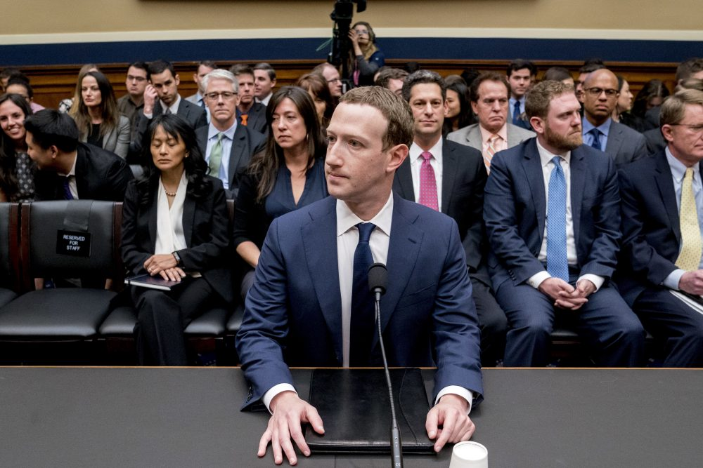 Facebook CEO Mark Zuckerberg arrives to testify before a House Energy and Commerce hearing on Capitol Hill in Washington, Wednesday, April 11, 2018, about the use of Facebook data to target American voters in the 2016 election and data privacy. (Andrew Harnik/AP)