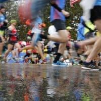 A wet 122nd Boston Marathon (Mary Schwalm/AP)