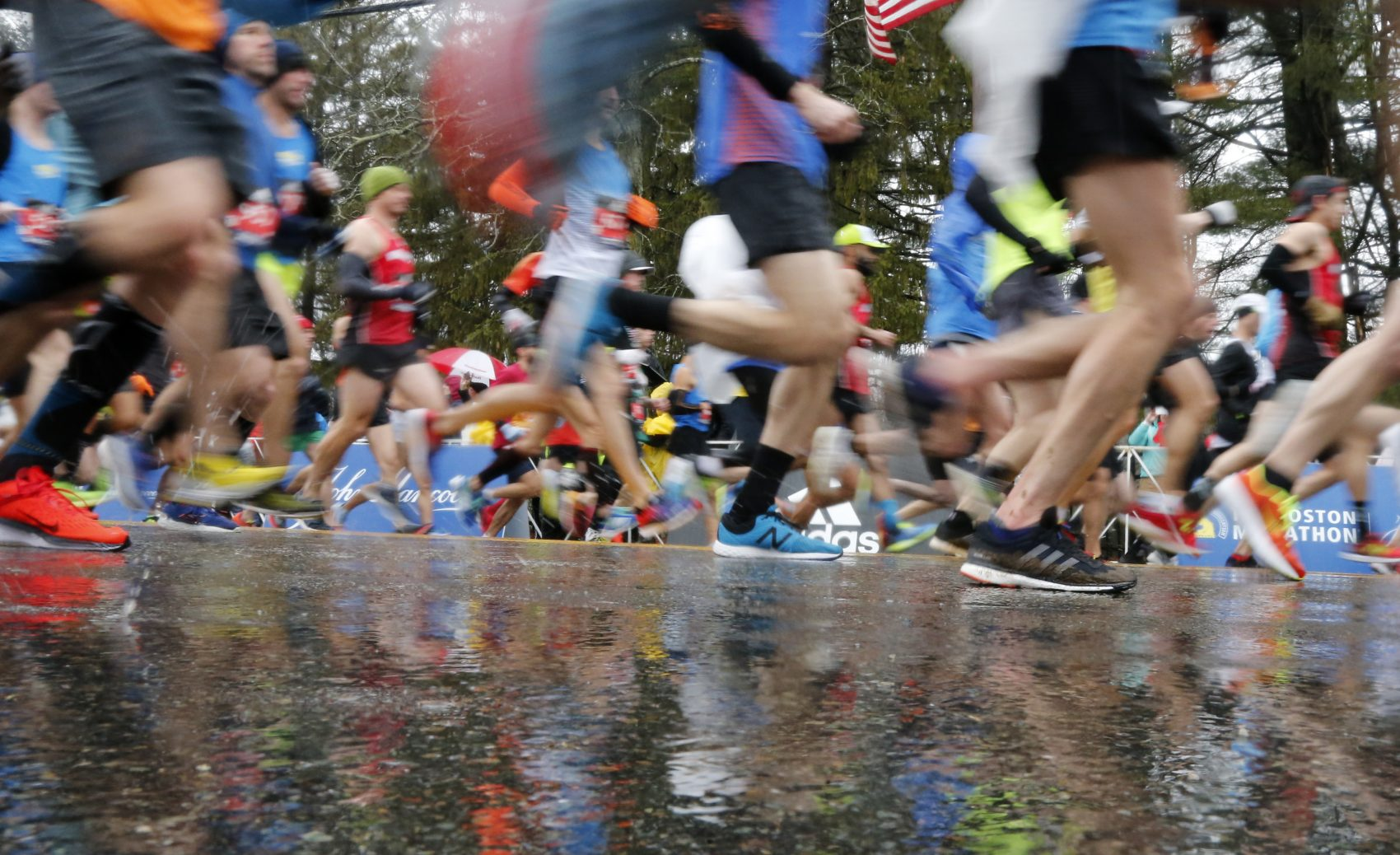 A wet 122nd Boston Marathon (Mary Schwalm/AP)