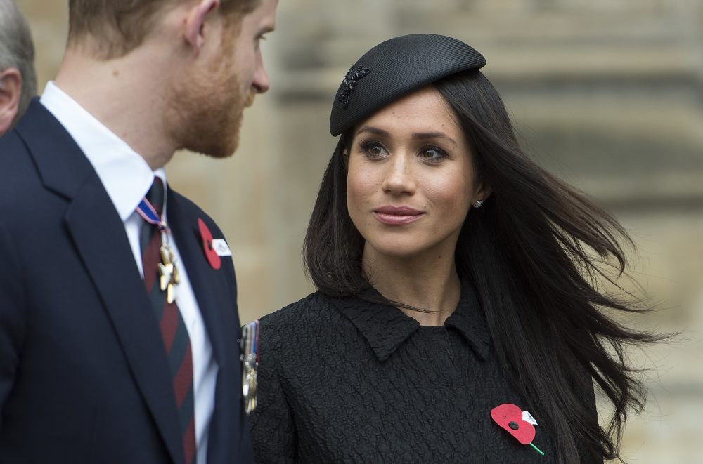 Britain's Prince Harry and Meghan Markle are pictured at Westminster Abbey in London, Wednesday, April 25, 2018.  The Prince and Markle will tie the knot at St. George's Chapel in Windsor, southern England on May 19. (Eddie Mulholland/Pool via AP)