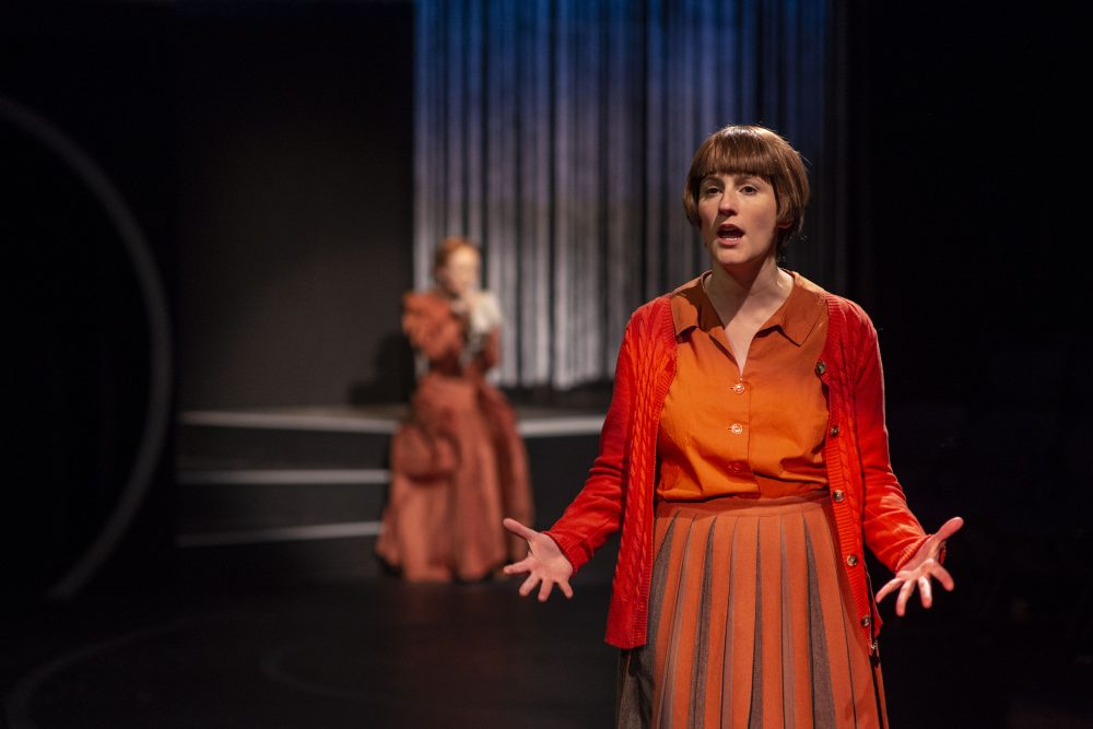 "Amanda Collins as Cecilia Payne (foreground) with Sarah Oakes Muirhead as Henrietta Swan Leavitt in ""The Women Who Mapped the Stars."" (Courtesy A.R. Sinclair Photography)"