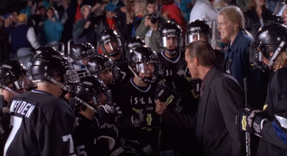 "The Mighty Ducks face off against the formidable Team Iceland in ""D2."" But why Iceland? (YouTube)"