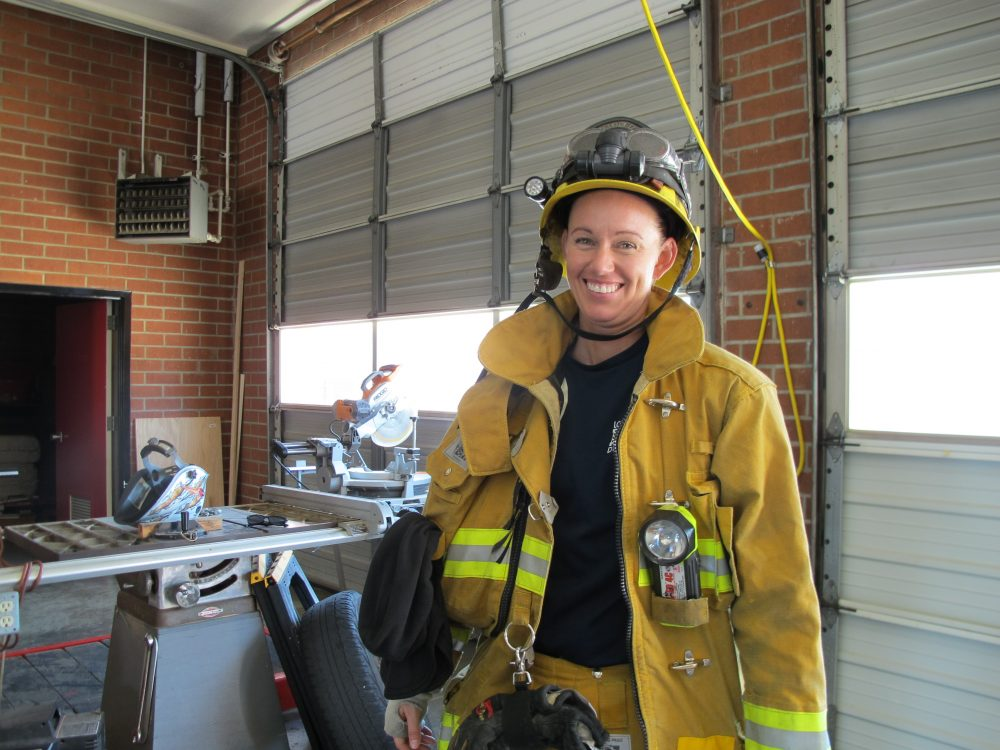 Erin Regan found a new career as a firefighter after WUSA folded. (Susan Valot)