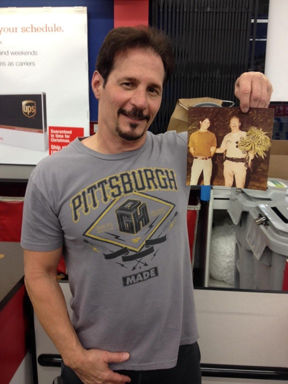 Johnny Grandizio, holding up the famous photo.