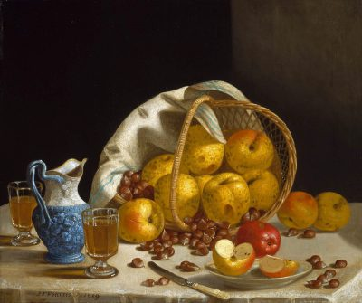 Still Life with Apples and Chestnuts, by John F. Francis (courtesy of the MFA Boston)