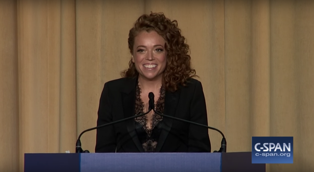 Michelle Wolf, pictured at the 2018 White House Correspondents' Dinner. (C-SPAN/YouTube)