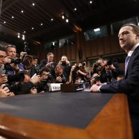 Facebook Chief Executive Mark Zuckerberg appeared before the Senate Commerce and Judiciary committees in April, after Facebook said personal information about 87 million users might have been improperly shared with Crimson Hexagon. (Alex Brandon/AP)