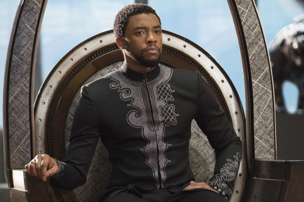 This image released by Disney-Marvel Studios shows Chadwick Boseman in a scene from