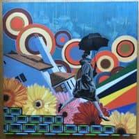 """Rush."" Oil on 25""x 25"" canvas. (Jenny Hoard/jenniferhoard.com)"