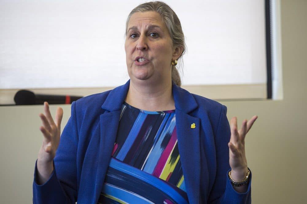 Julie Burros, Boston's chief of arts and culture. (Jesse Costa/WBUR)