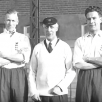Fred Spiksley (middle) was the first to coach football on three continents. Almost everywhere he went, his teams won championships. (Screenshot via YouTube)