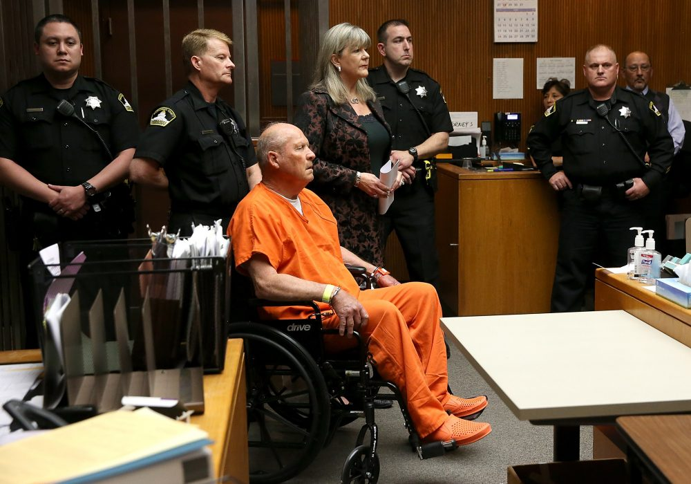 Joseph James DeAngelo, the suspected Golden State Killer, appears in court for his arraignment on April 27, 2018 in Sacramento, Calif. (Justin Sullivan/Getty Images)