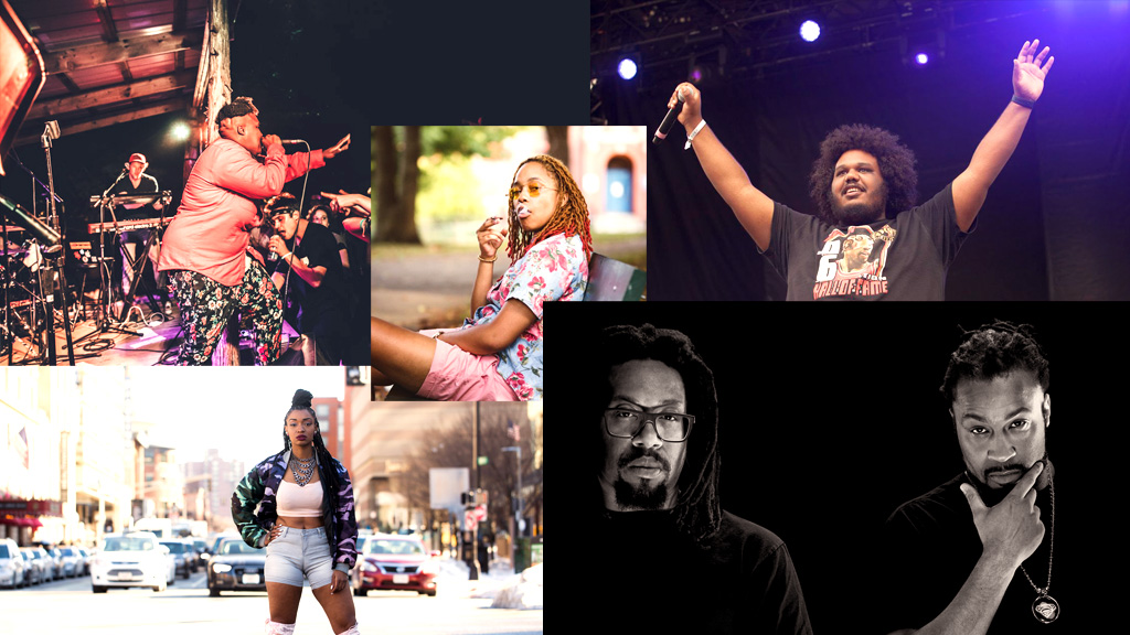 Billy Dean Thomas, Vintage Lee, Michael Christmas, Dutch Rebelle and The Perceptionists. (Courtesy of the artists and Joe Difazio)