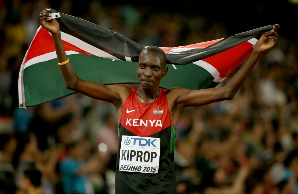 Asbel Kiprop of Kenya tested positive for EPO, but the runner also says he was extorted. (Andy Lyons/Getty Images)