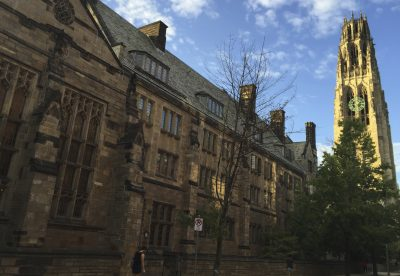This Sept. 9, 2016 photo shows Harkness Tower on the campus of Yale University in New Haven, Conn. (Beth J. Harpaz/AP)