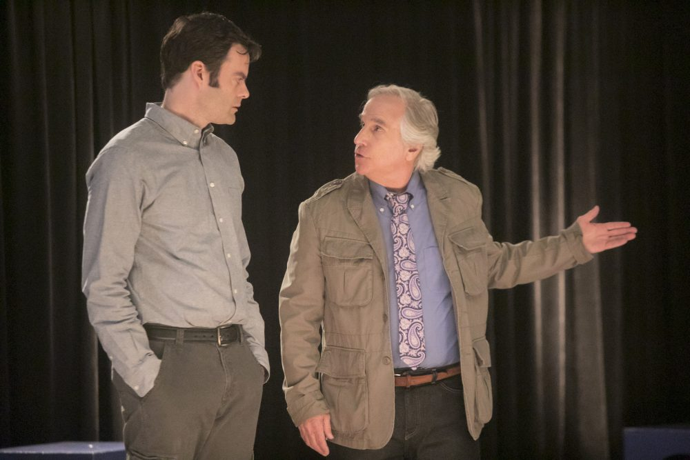 """Bill Hader (left) and Henry Winkler in a still from HBO's """"Barry."""" (Jordin Althaus/HBO)"""