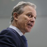 In this Sept. 2017 file photo, New York Attorney General Eric Schneiderman speaks at a news conference in New York. (Seth Wenig/AP)