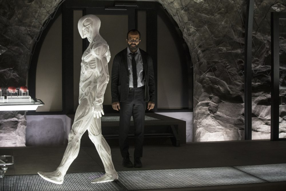 "Jeffrey Wright (right) in a still from season 2, episode 4 of HBO's ""Westworld."" (John P. Johnson/HBO)"
