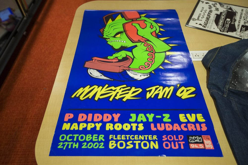 A poster designed by Rob Stull for Monster Jam 2002 at the Fleet Center in Boston. (Jesse Costa/WBUR)