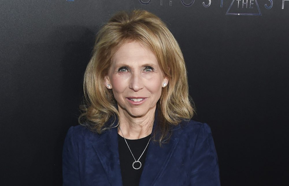 "In this March 29, 2017, file photo, Shari Redstone attends the premiere of ""Ghost in the Shell"" at AMC Loews Lincoln Square in New York. CBS is suing its controlling shareholder as part of its long-running attempt to avoid a combination with Viacom. (Evan Agostini/Invision/AP)"