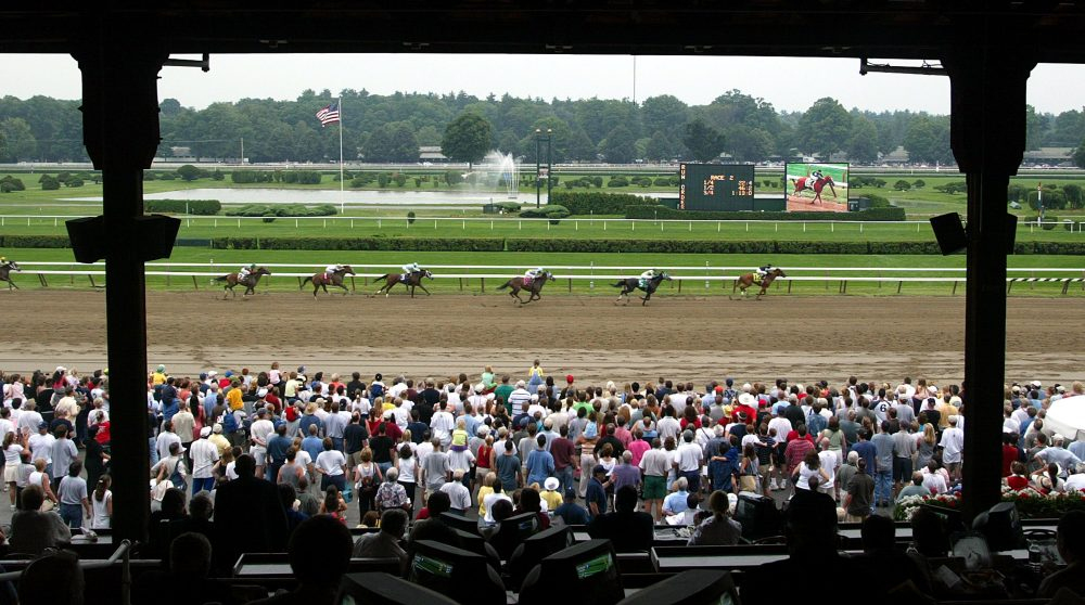"""At the Saratoga Race Track, Onion -- an """"about average"""" but """"kind"""" horse -- challenged the great Secretariat. (Mario Tama/Getty Images)"""
