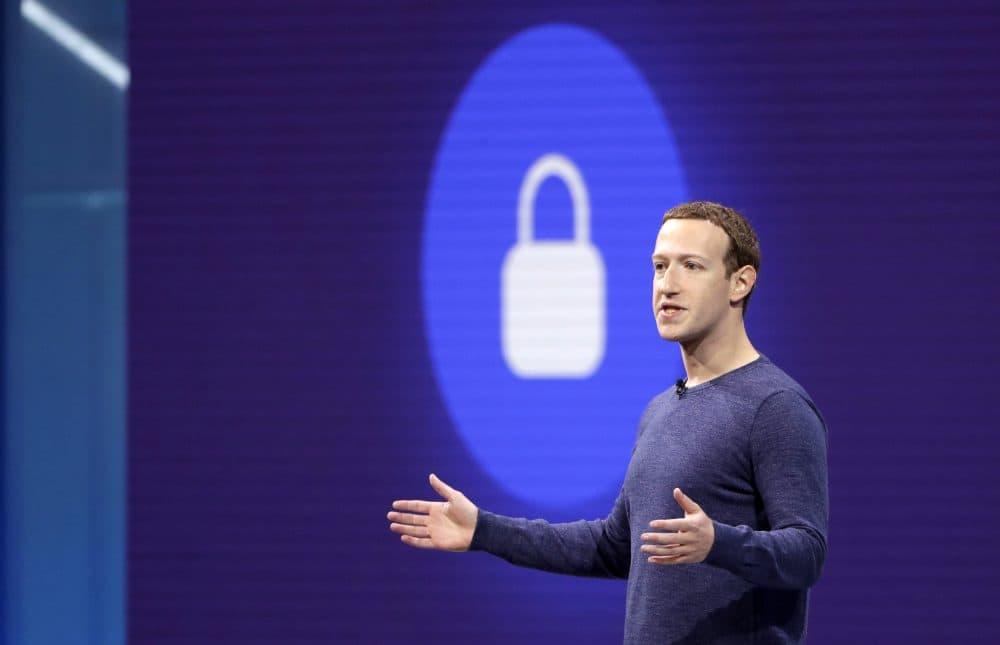 Facebook CEO Mark Zuckerberg makes the keynote speech at F8, theFacebook's developer conference, Tuesday, May 1, 2018, in San Jose, Calif. (Marcio Jose Sanchez/AP)