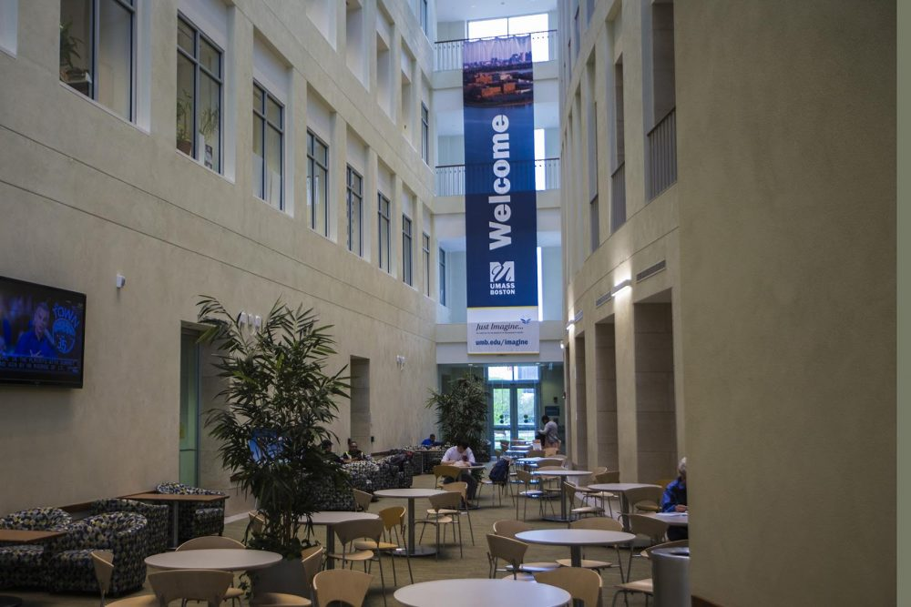 The Campus Center at UMass Boston. (Jesse Costa/WBUR)