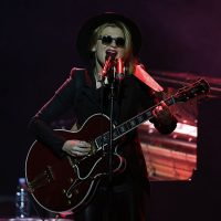 """U.S. singer Melody Gardot performs on stage during the 10th """"Monte Carlo Jazz Festival"""", on Dec. 5, 2015 in Monaco. (Valery Hache/AFP/Getty Images)"""