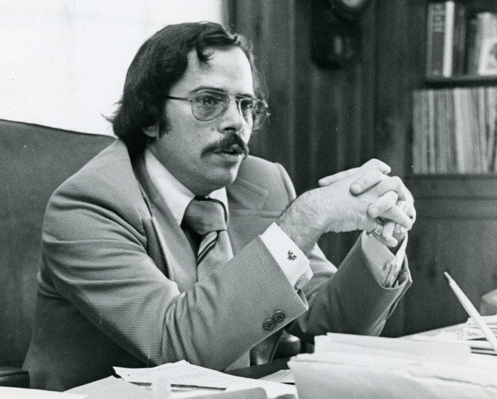 Longtime Boston Phoenix publisher Stephen Mindich. (Courtesy Northeastern University Archives)