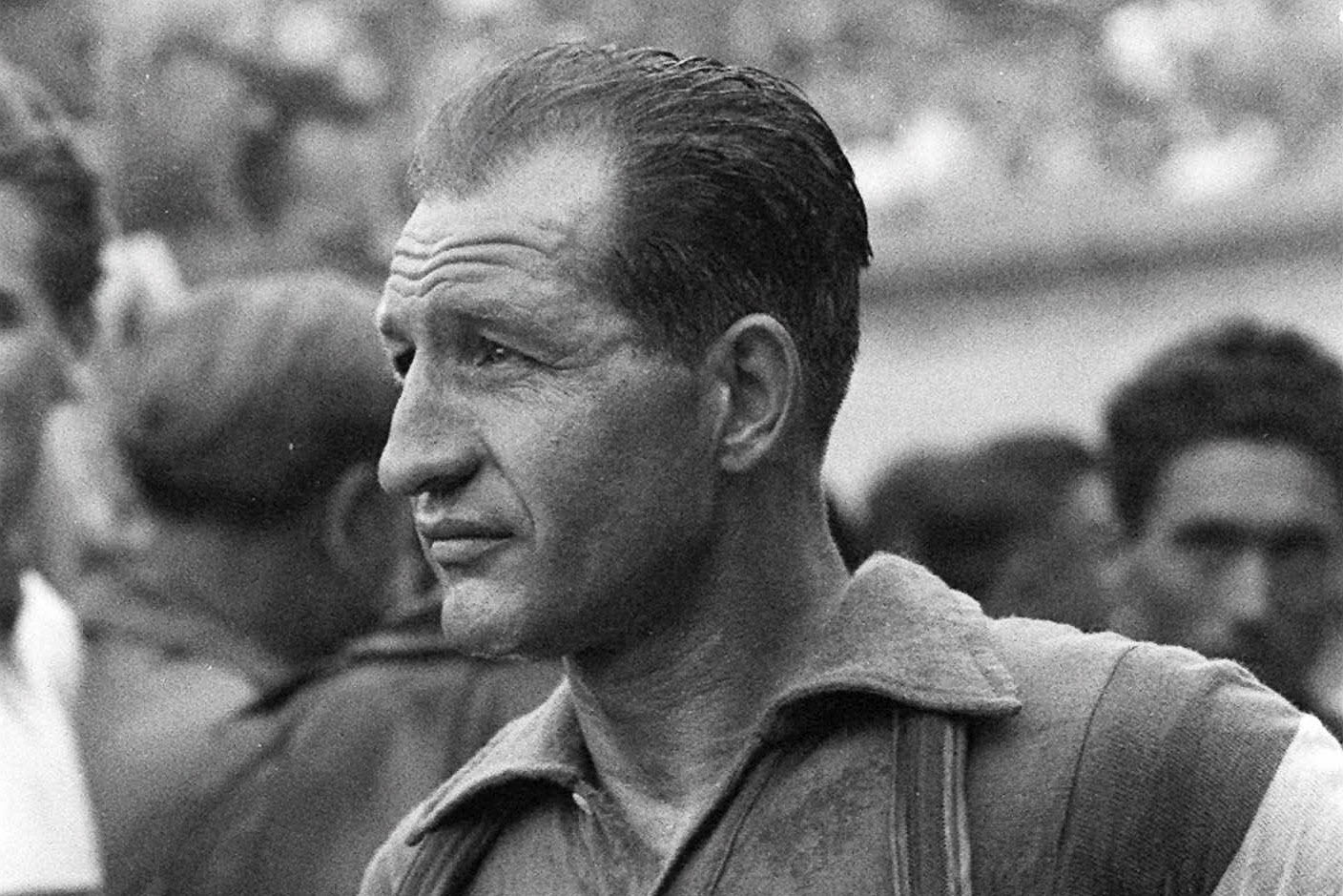 Italian cycling great Gino Bartali in 1953. During the German occupation of Italy, the champion cyclist aided the Jewish-Christian rescue network in his hometown of Florence and the surrounding area by shuffling forged documents and papers hidden in the tubes and seat of his bike. Bartali, who died in 2000, rarely spoke about it for the rest of his life, but his son Andrea Bartali led an effort to gain recognition for what his father did. (AP Photo)