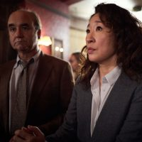 "Sandra Oh and David Haig in a still from season one of ""Killing Eve."" (Courtesy BBC America)"