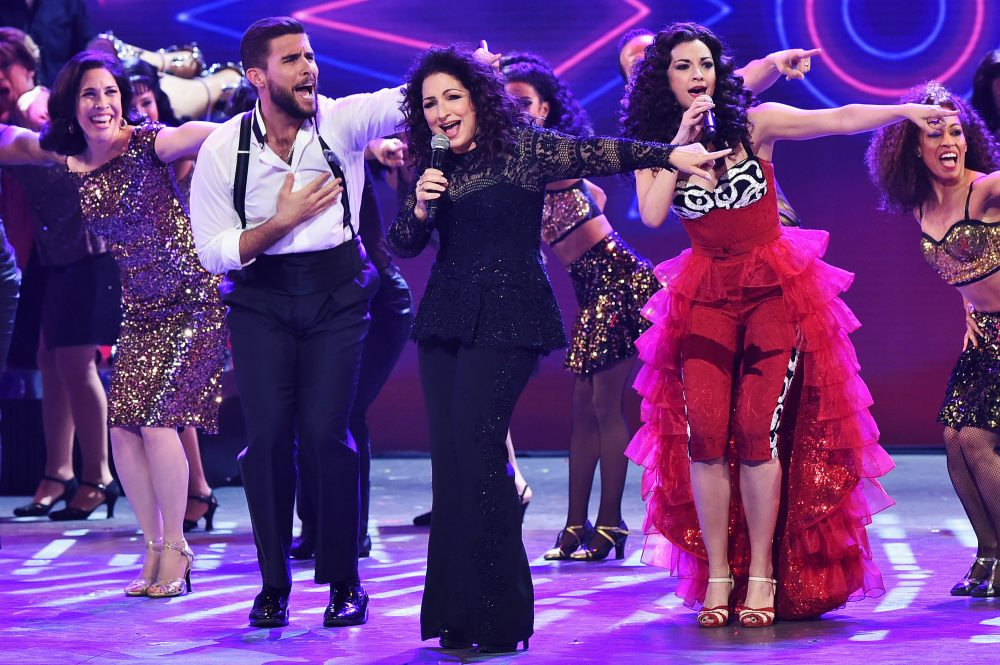 "Gloria Estefan and Ana Villafane perform ""On Your Feet!"" onstage during the 70th Tony Awards at The Beacon Theatre on June 12, 2016, in New York City. (Theo Wargo/Getty Images for Tony Awards Productions)"