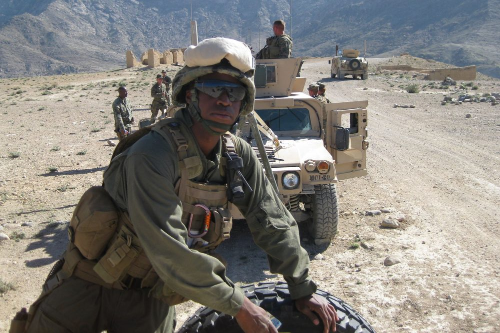 Marine Corps Capt. Jesse Melton in Afghanistan in 2008. (Courtesy Janice Chance)