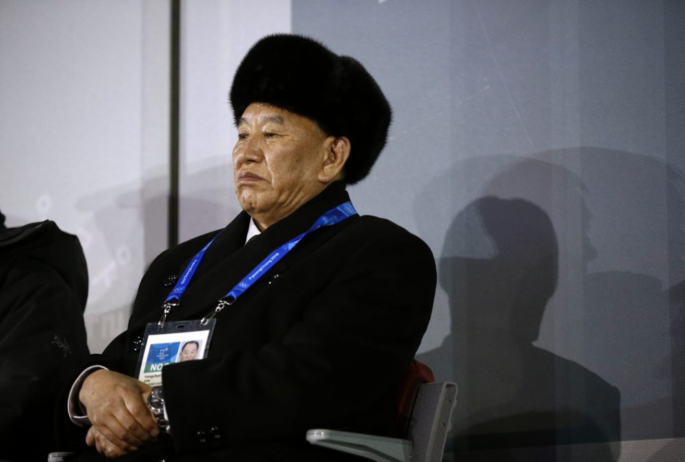 Kim Yong Chol, vice chairman of North Korea's ruling Workers' Party Central Committee, watches the closing ceremony of the 2018 Winter Olympics at PyeongChang Olympic Stadium on Feb. 25, 2018 in Pyeongchang, South Korea. (Patrick Semansky - Pool/Getty Images)